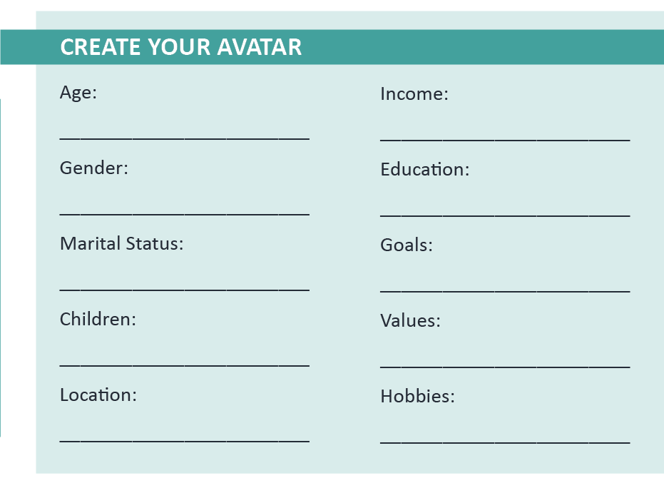 Checklist to Create Audience Avatar